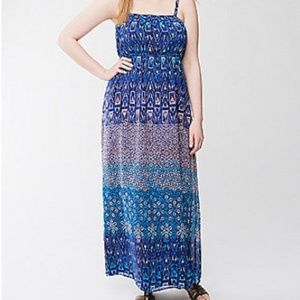 Lane Bryant 18/20 Boho Mixed Print Maxi Dress